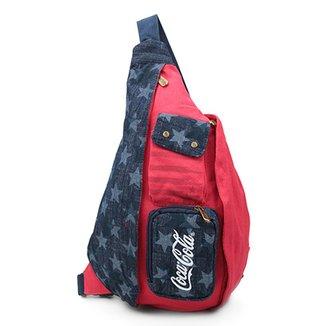 1f5b24cdf Mochila Transversal Coca-Cola American Flag Feminina