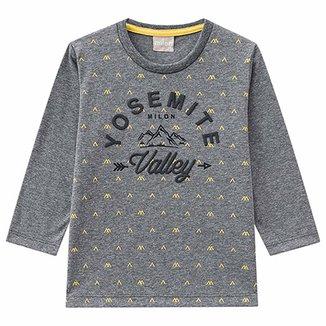6a47470a09 Camiseta Infantil Milon Manga Longa Yosemite Masculina