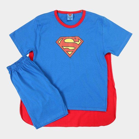 d975b0f6e Pijama Lupo Superman Capa Infantil - Azul e Vermelho - Compre Agora ...