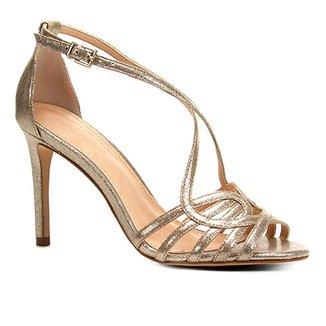 b23601892 Sandália Shoestock Salto Fino Tiras Feminina