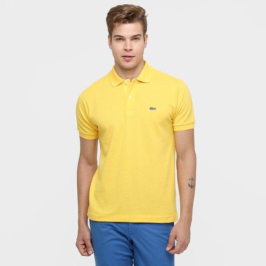 27729badfa2 Camisa Polo Lacoste Piquet Original - Amarelo Escuro - Compre Agora ...