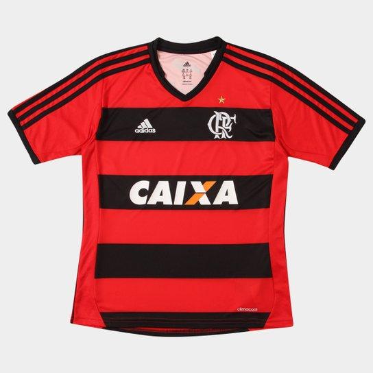 8b5dc0d71a548 Camisa Adidas Flamengo I 13 14 s nº Infantil - Vermelho+Preto