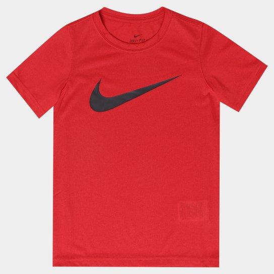 ... Camiseta Infantil Nike Dry Tee Ss Swoosh Solid Masculino -  Vermelho+Preto df1aed807377d4 ... 7066f57efad91