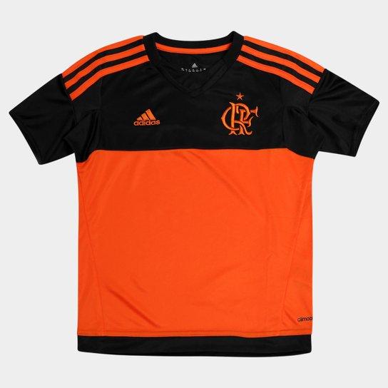 3c3d1a42dbe0a Camisa Flamengo Infantil Goleiro 2015 s nº Torcedor Adidas - Preto+Laranja  Escuro
