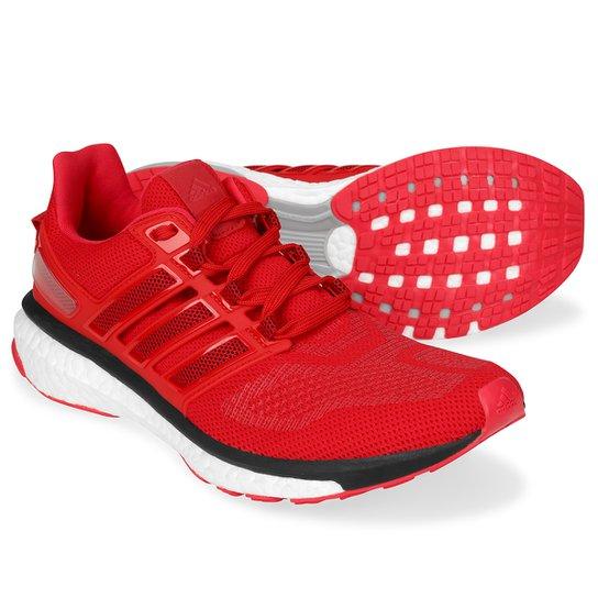 1197afd241 Tênis Adidas Energy Boost 3 Masculino - Vermelho e Preto - Compre ...