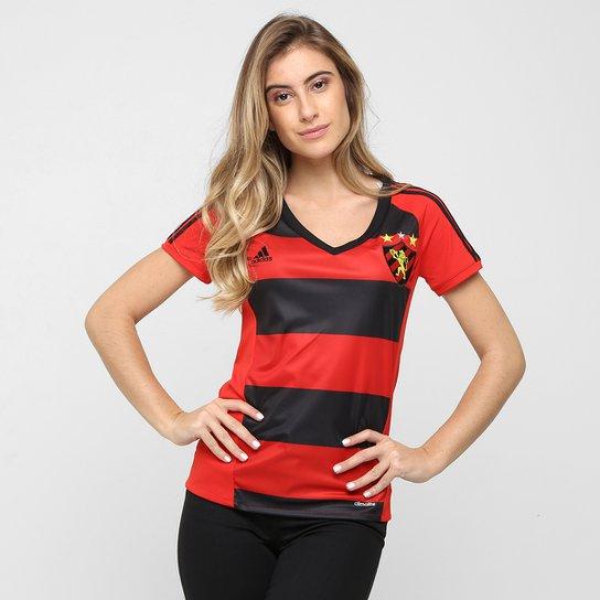 c6a5de60c49a5 Camisa Sport Recife I 2016 s nº Torcedor Adidas Feminina - Vermelho+Preto