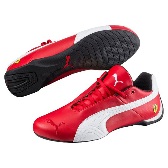 4402a930 Tênis Couro Puma Scuderia Ferrari Future Cat OG Masculino - Vermelho+Preto