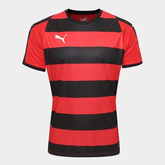 Camisa Puma Liga Jersey Hooped Masculina - Vermelho+Preto 84c1f46b9bd7