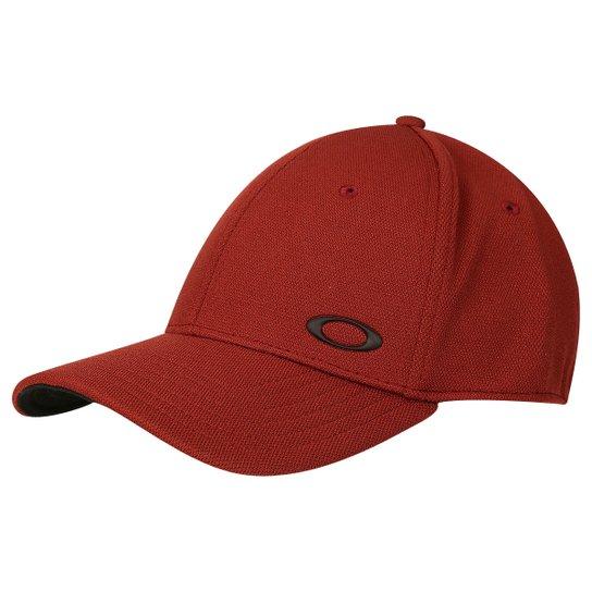 Boné Oakley Aba Curva Mod Silicon Ellipse Masculino - Vermelho e ... 7d920f4ac03