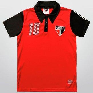 Camisa Polo São Paulo n° 10 Juvenil 69f972c34d8f5