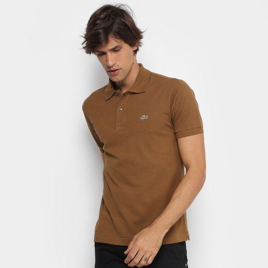 Camisa Polo Lacoste Piquet Original Masculina - Cáqui - Compre Agora ... 8d10f99f5e