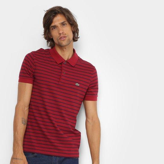 fac6014de2717 Camisa Polo Lacoste Piquet Listras Regular Fit Masculina - Compre ...