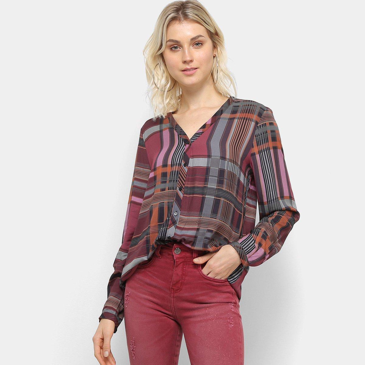 Camisa Manga Longa Colcci Estampada Feminina