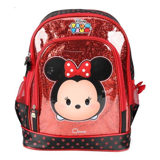 40e781452 Mochila Infantil Escolar Luxcel Disney Minnie - Vermelho+Preto
