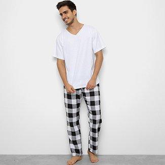 bd0614a50 Pijama Be Cciolo Camiseta + Calça Xadrez Masculino