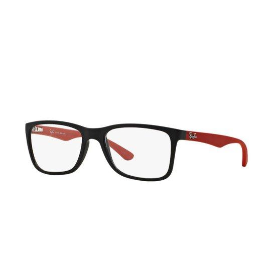1c9b8939fe36e Armação de Óculos Ray-Ban RB7027L - Vermelho e Preto - Compre Agora ...