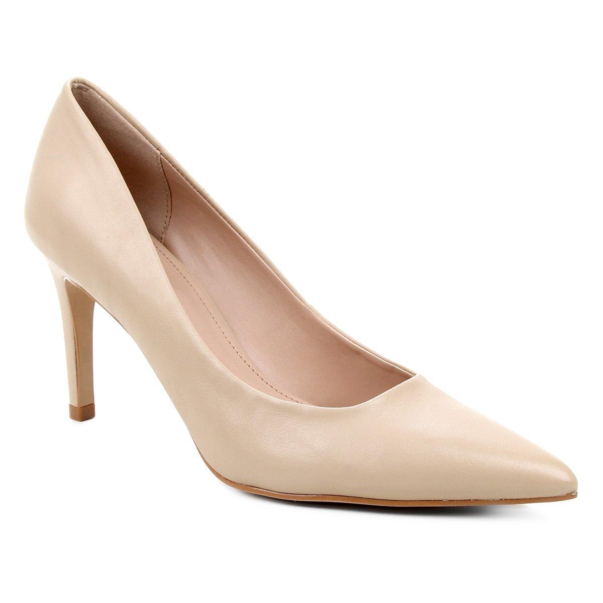 Scarpin Couro Shoestock Salto Alto Graciela