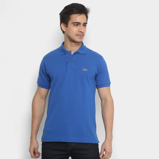 545f66fb8 Camisa Polo Lacoste Piquet Original Fit Masculina - Azul Navy ...