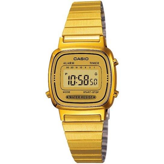 eb1926cea0c Relógio Casio Vintage LA670WGA-9DF - Dourado - Compre Agora
