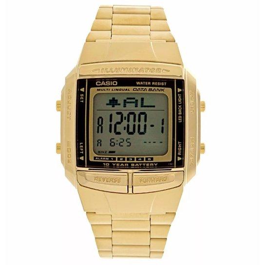 8883f6dea66 RELÓGIO CASIO - DB-360G-9ADF - Dourado - Compre Agora