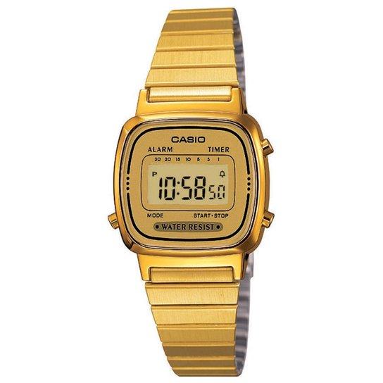 e1d3e0037c Relógio Casio Vintage LA670WGA-9DF - Dourado - Compre Agora