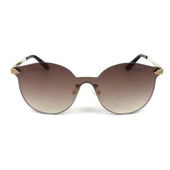 3e549e81c1c0c Óculos de Sol Guess Feminino - Dourado - Compre Agora