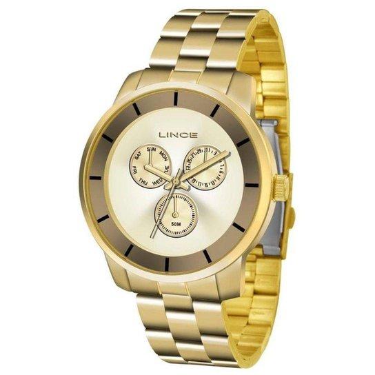 Relógio Feminino Lince Lmg4478l C1kx - Dourado - Compre Agora   Zattini 6080d47b12