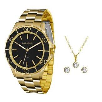 3f488a3e601 Kit Relógio Feminino Lince Analógico Lrgj067l Ku96