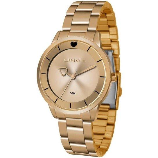 f58bd2284fd Relógio Lince Lrr4572l R1rx Feminino - Dourado - Compre Agora