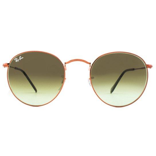 d998a6762 Óculos de Sol Ray Ban Round Metal RB3447 9002A6-50 Feminino - Dourado