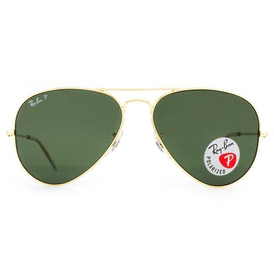 49b59366504a2 Óculos de Sol Ray Ban Aviator Polarizado RB3025L 001 58-58 Masculino -  Dourado