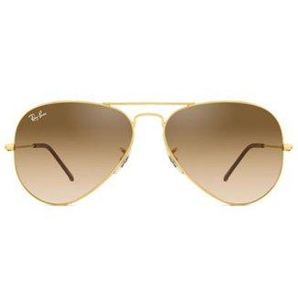 d0a4b6f78 Óculos de Sol Ray Ban Aviator RB3025L 001/51-58 Feminino