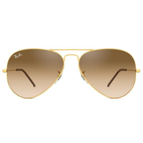 aacb5b386 Óculos de Sol Ray Ban Aviator RB3025L 001/51-58 Feminino - Dourado ...