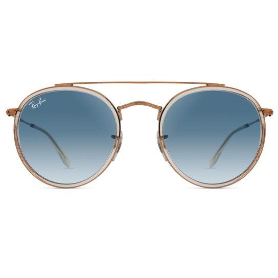 Óculos de Sol Ray Ban Round Double Bridge RB3647N 90683F-51 - Compre ... 67ffc87793