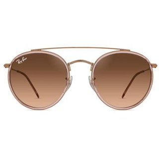 c1f19b5ca Óculos de Sol Ray Ban Round Double Bridge RB3647N 9069A5-51