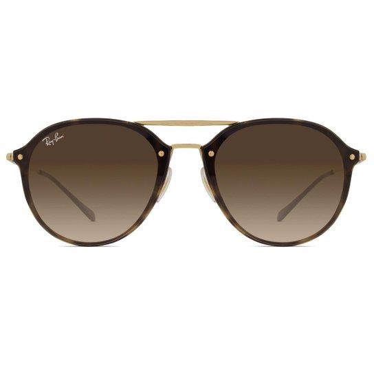 9b1c25e95 Óculos de Sol Ray Ban Blaze Double Bridge RB4292N 710/13-62 - Dourado