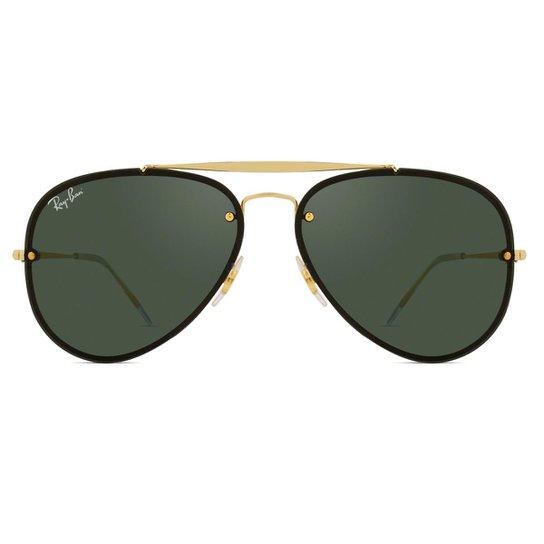 6a629e2d9 Óculos de Sol Ray Ban Blaze Aviador RB3584N 9050/71-61 - Dourado ...
