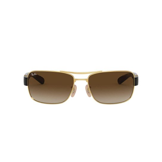 bab4abbdb ... c950ef7501412 Óculos de Sol Ray-Ban Quadrado RB3522 Masculino - Dourado  - Compre .