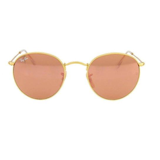 3ee775d22ec05 Óculos de Sol Ray Ban 3447L 112 Z2 - Dourado - Compre Agora   Zattini