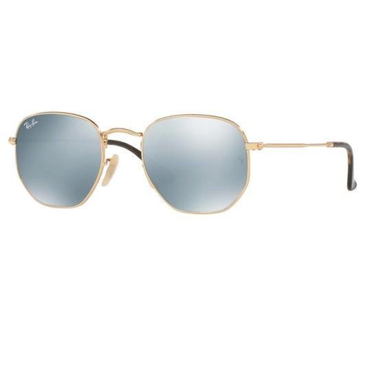 f67013b212 Óculos de Sol Ray Ban Hexagonal RB3548N 001 30 - Dourado - Compre ...