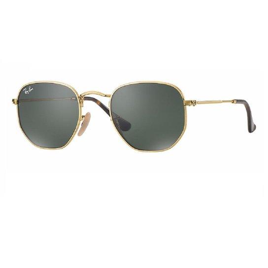 ac0a363a8 Óculos de Sol Ray Ban Hexagonal RB3548N 001 - Dourado | Zattini
