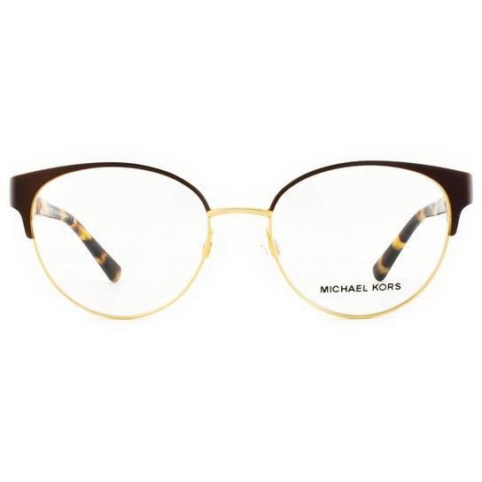 6e6960936 Armação Óculos de Grau Michael Kors Adelaide IV MK3010 1076-51 - Dourado