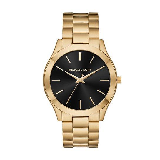 60bb5eab8a26d Relógio Michael Kors Feminino Slim Runway - MK8621 1DN MK8621 1DN - Dourado