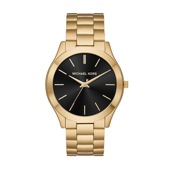 2aaebb7cec13f Relógio Michael Kors Feminino Slim Runway - MK8621 1DN MK8621 1DN - Dourado