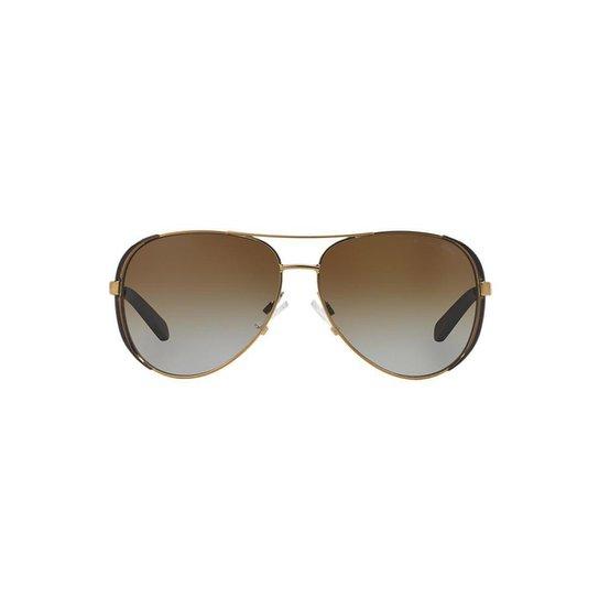 45140ce7596c9 Óculos de Sol Michael Kors Piloto MK5004 Chelsea Feminino - Dourado ...