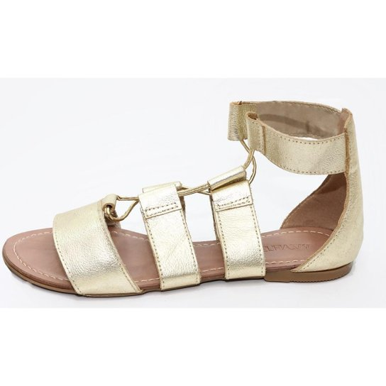 10506432c3 Sandália Gladiadora Top Franca Shoes Feminina - Dourado - Compre ...