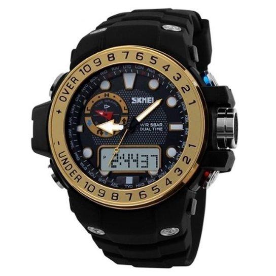 59e9e83ac06 Relógio Skmei Anadigi 1063 - Dourado - Compre Agora