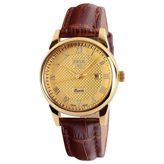 1ba91603cee Relógio Skmei Analógico 9058 - Dourado - Compre Agora
