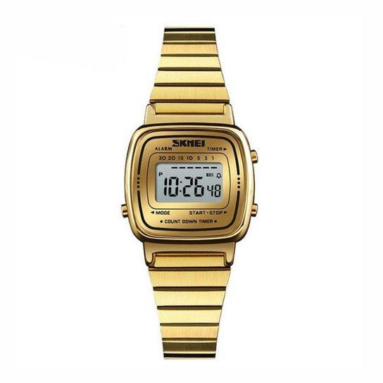 f65c61bc930 Relógio Skmei Digital - Dourado - Compre Agora