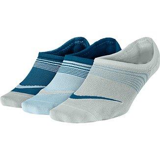 Meia Nike Sem Cano Lightweight c  3 pares Feminina 1ea1124ed0c